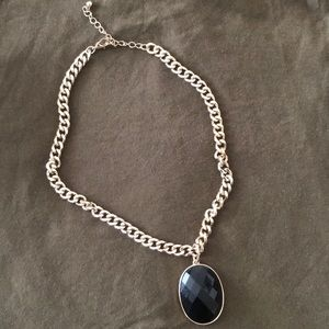 Thick Golf necklace with black pendant
